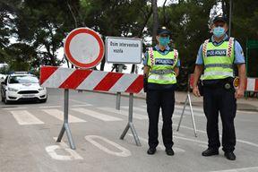 Lungomare danas zatvoren za promet (Snimio Milivoj Mijošek)