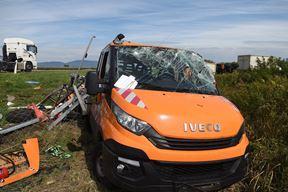 Mjesto prometne nesrece - vozilo ophodarske sluzbe (Foto: Robert Fajt / CROPIX )