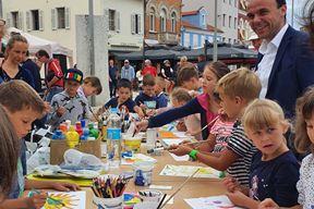 Gradonačelnik je s najmlađima obilježio početak projekta (Snimio Boris Bilas)