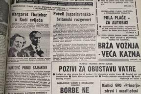 Naslovnica Glasa Istre iz 1981. godine