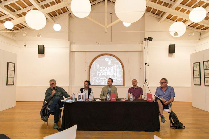 Uz urednike knjige Ivu Ciceran i Nevena Ušumovića, na predstavljanju su govorili Vlaho Bogišić, Nikola Petković, Velid Đekić i Tonči Valentić