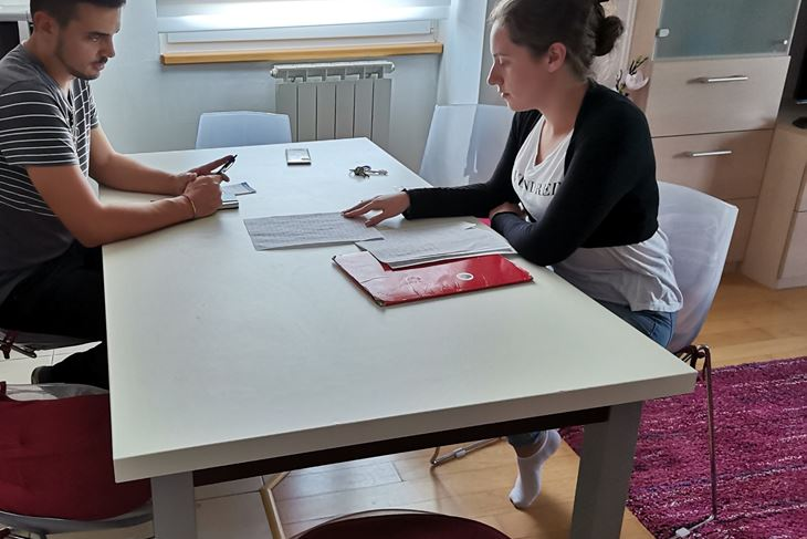 Ema Novaković u razgovoru s novinarom