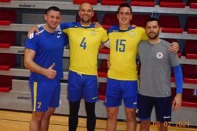 OPTIMISTI - Deny Bljaić, Abdel Zolota, Vedran Arapović i trener Aleksandar Gavrilov (Snimio Ivica Radetić)