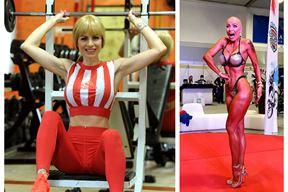 Vanja Dukić, bodybuilderica s karcinomom, na nastupu u Poreču. Kad je skinula periku nastupio je tajac, a zatim pljesak publike
