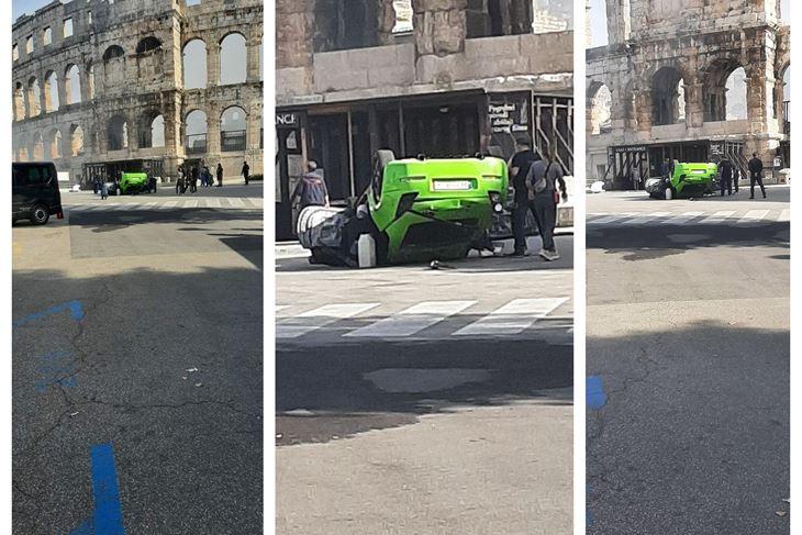 Snimanje serije ispred Arene