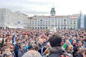 Današnji prosvjed na Piazzi Unita