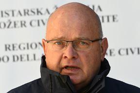 Načelnik Stožera civilne zaštite Istarske županije Dino Kozlevac (Snimio Milivoj Mijošek)