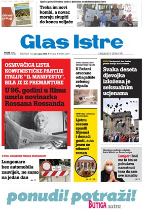 GlasIstre digitalno izdanje  23.09.2020